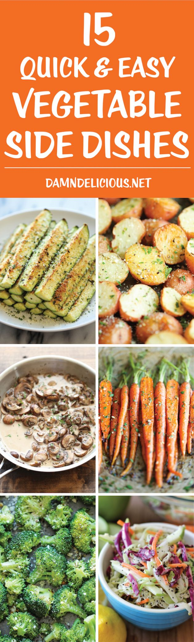 8 Quick and Easy Vegetable Side Dishes - Damn Delicious - Vegetable Recipes Yummy