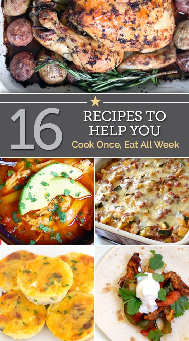 8 Recipes To Help You Cook Once, Eat All Week - thegoodstuff - Dinner Recipes You Can Prepare In Advance