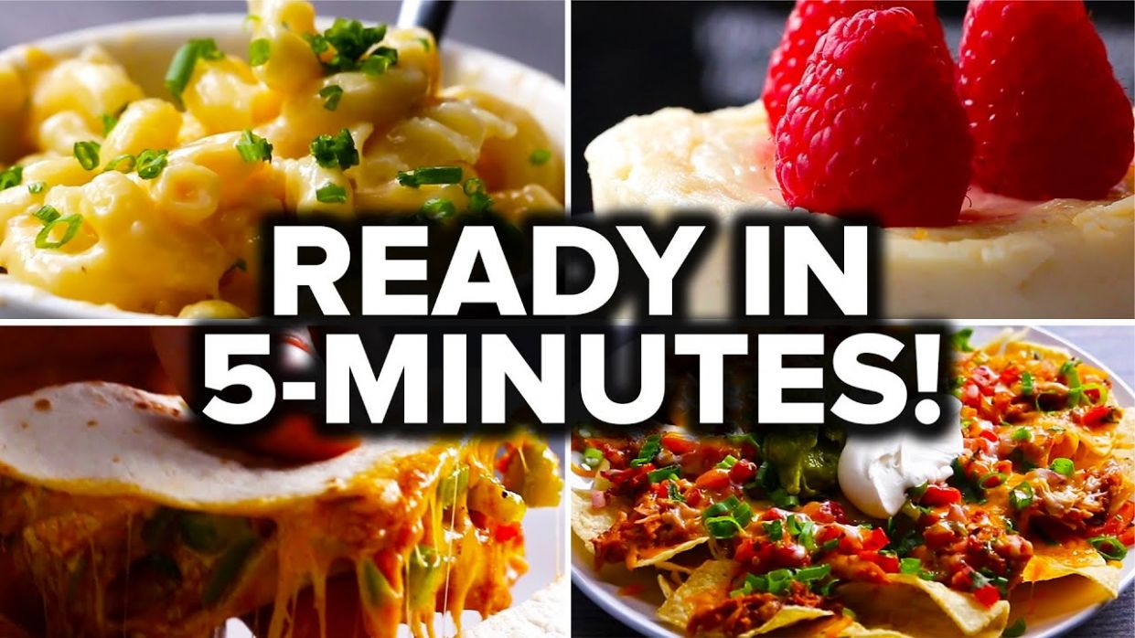8 Recipes You Can Make In 8 Minutes - Easy Recipes Yummy Food