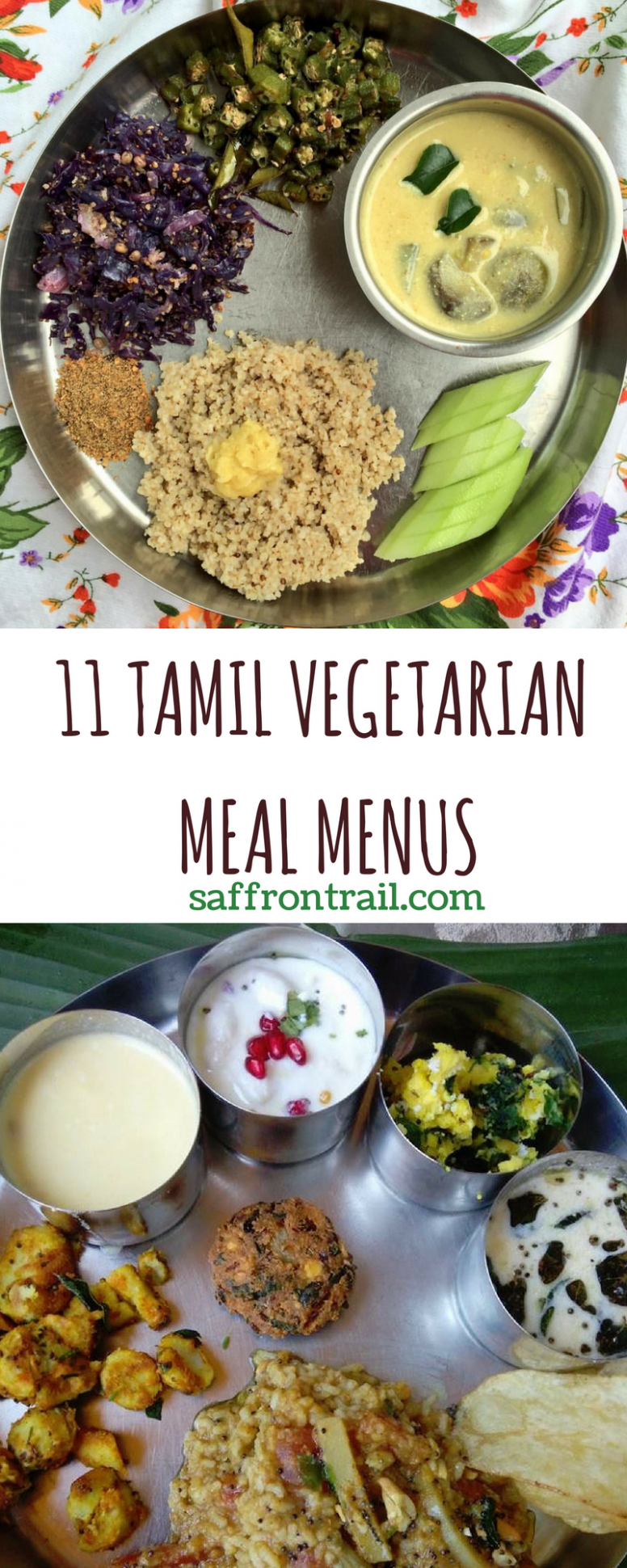 8 Traditional Tamil Vegetarian Lunch Menus | Indian food recipes ...