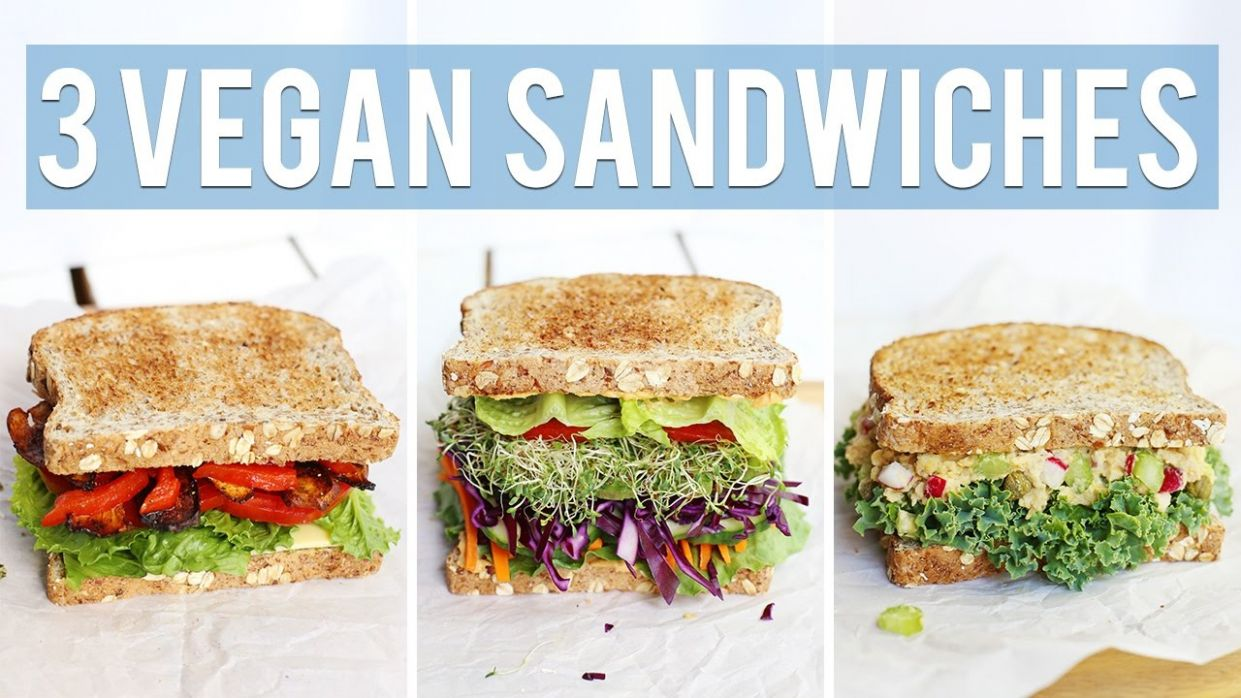 8 Vegan Sandwiches | HEALTHY LUNCH IDEAS - Sandwich Recipes Lunch