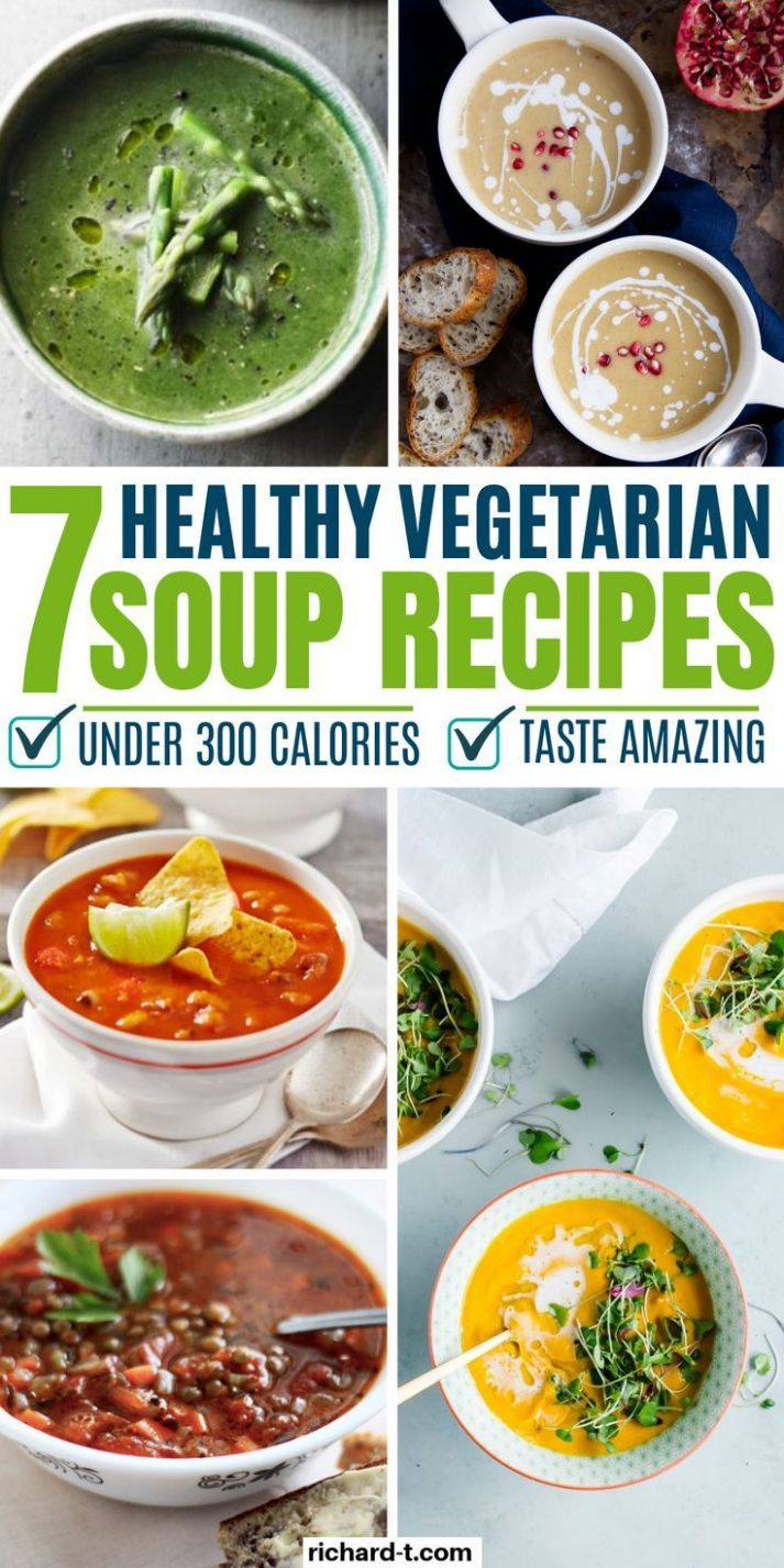 8 Vegetarian Healthy Soup Recipes Under 8 Calories | Health and ...