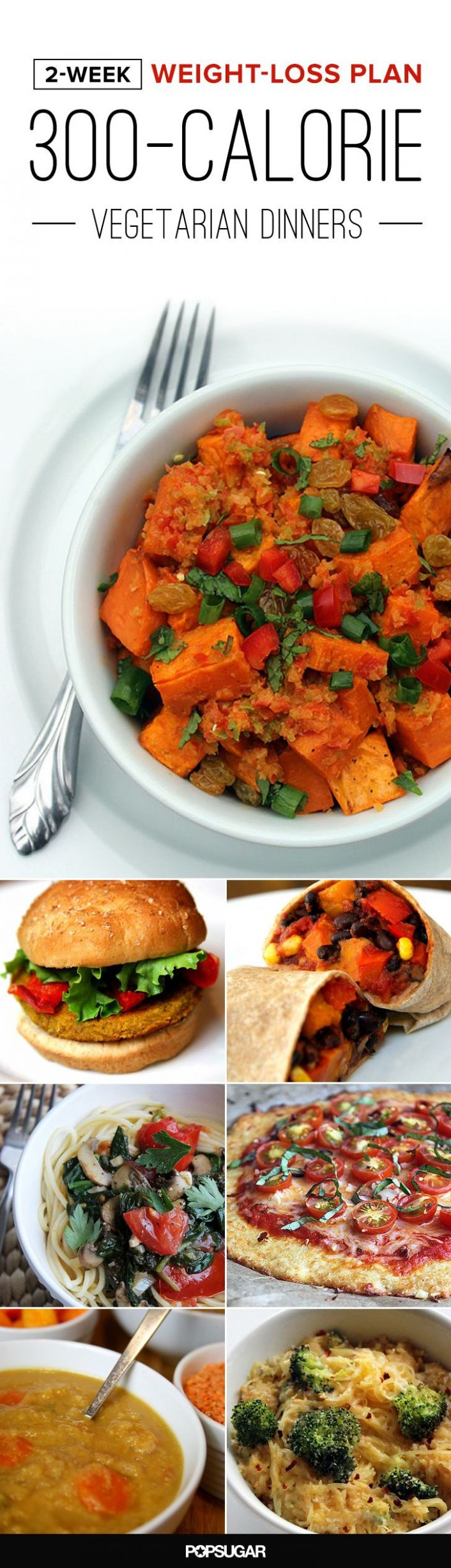 8-Week Meal Plan: Vegetarian Dinners Under 8 Calories | Dinner ...