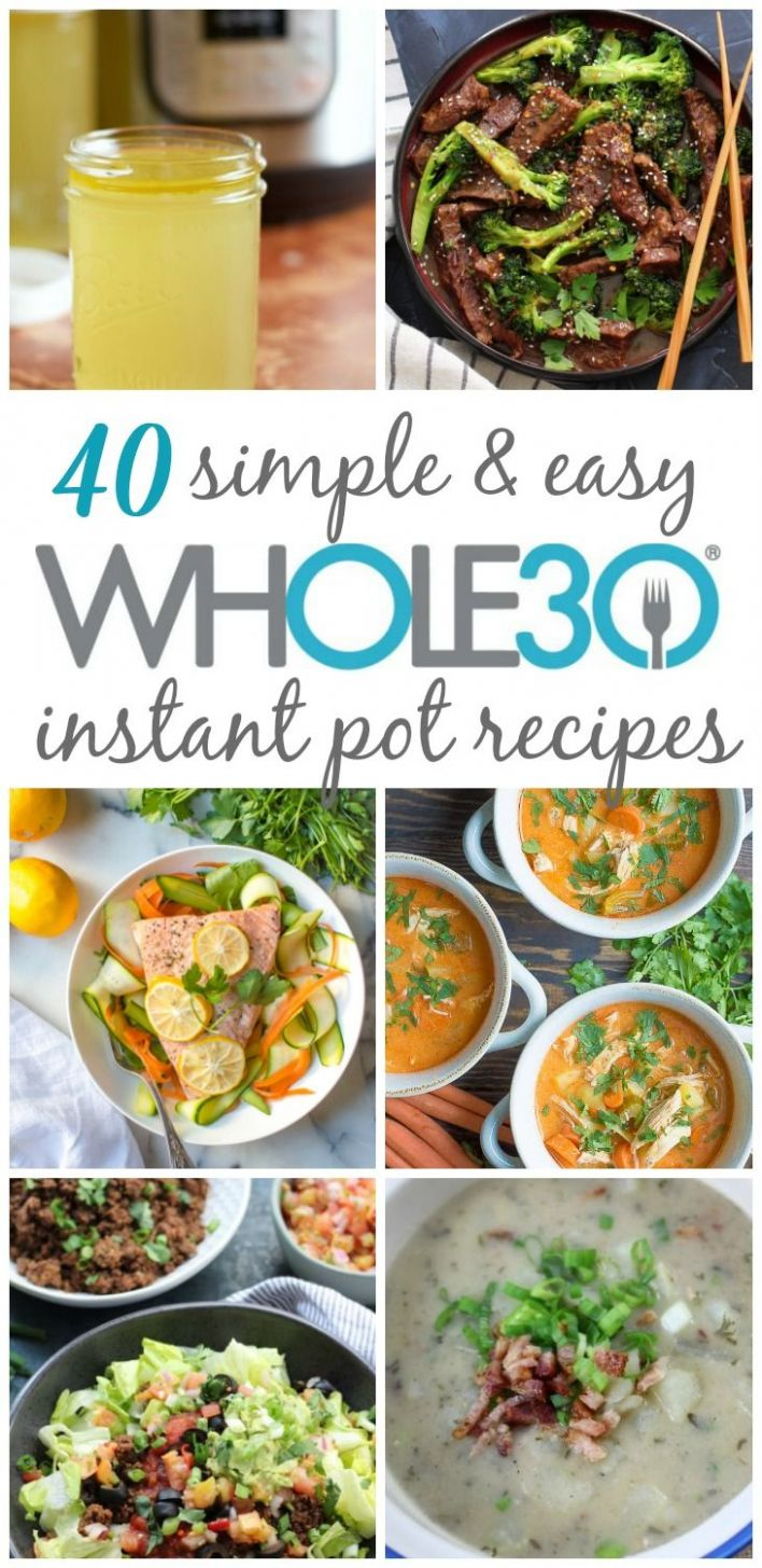8 Whole8 Instant Pot Recipes: Healthy Recipes Made Easy ...