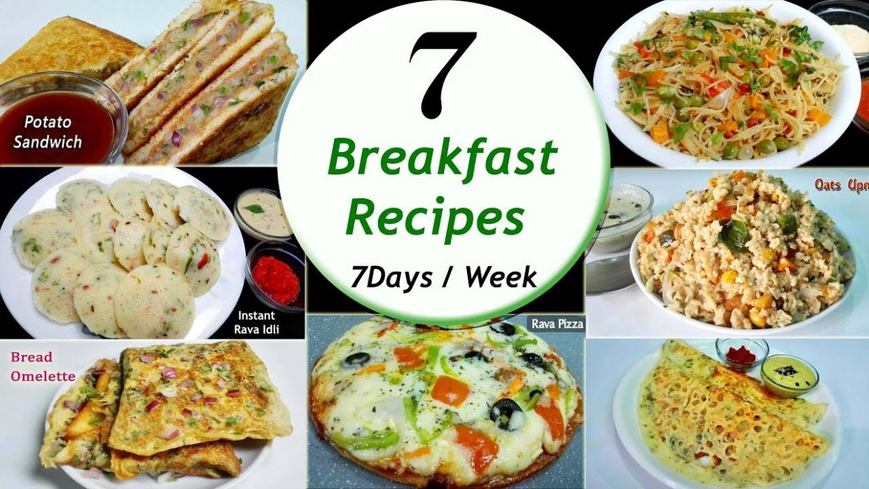 9 Breakfast recipes || 9 Days/Week Breakfast recipes || Simple & Easy  Recipes - Breakfast Recipes List