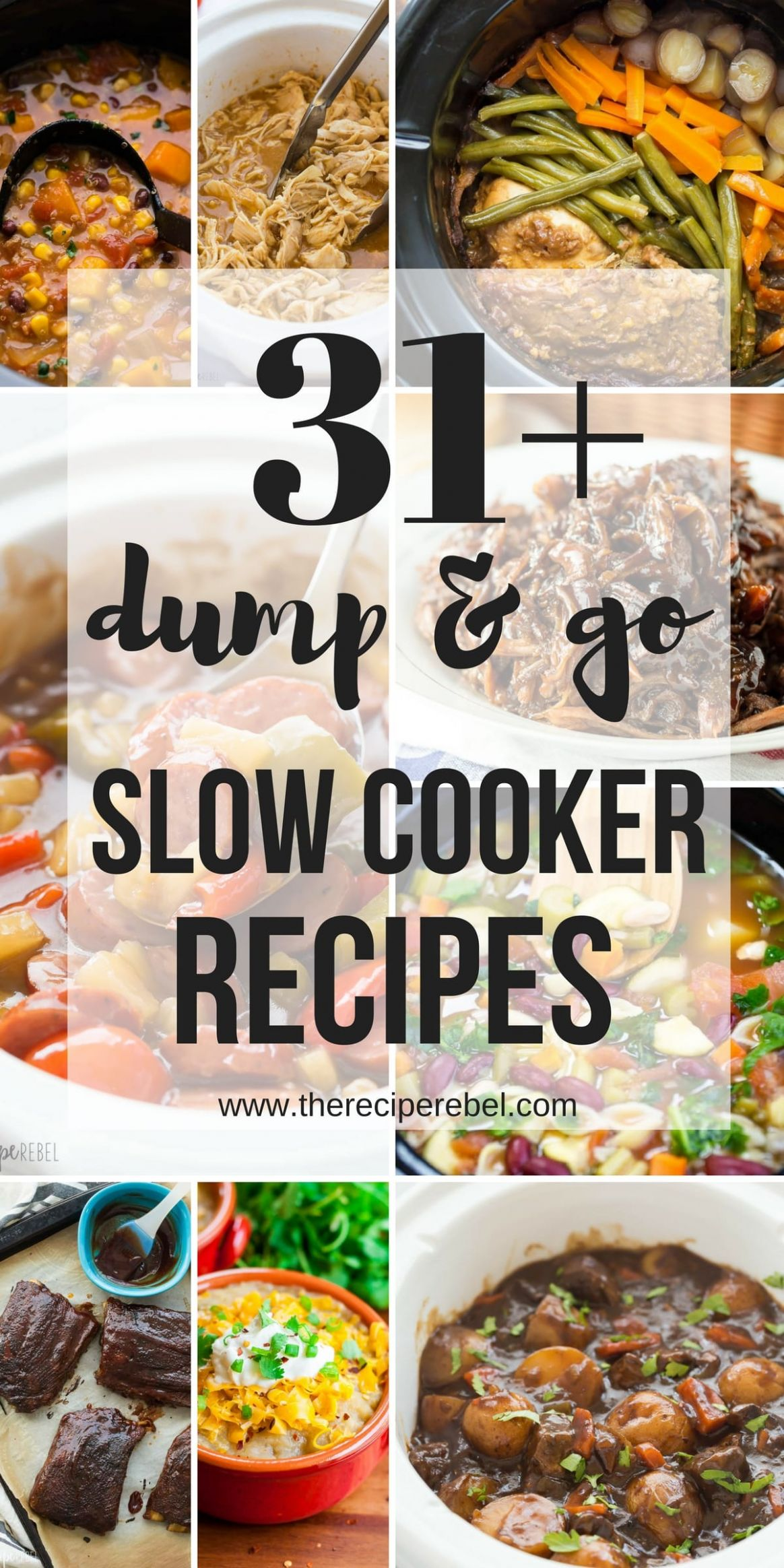 9 Dump and Go Slow Cooker Recipes (Crock Pot Dump Meals) - Dinner Recipes Crockpot
