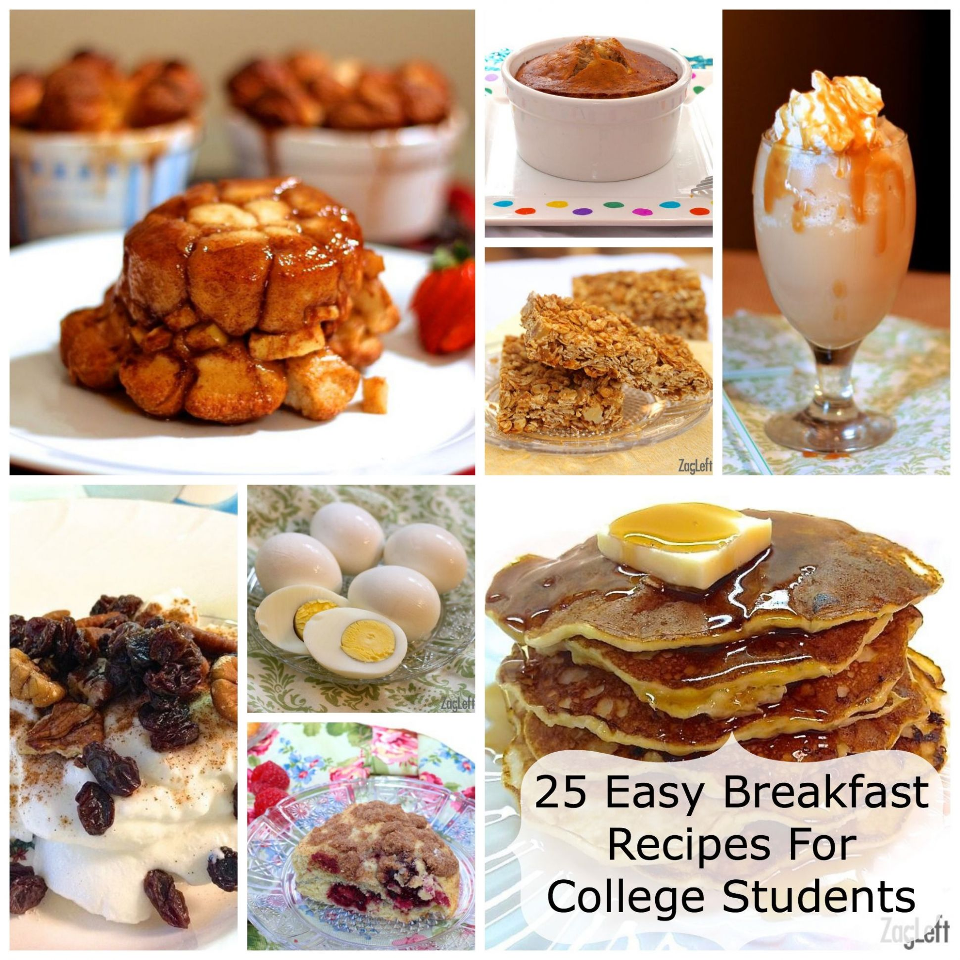 9 Easy Breakfast Recipes For College Students | Easy baking ..