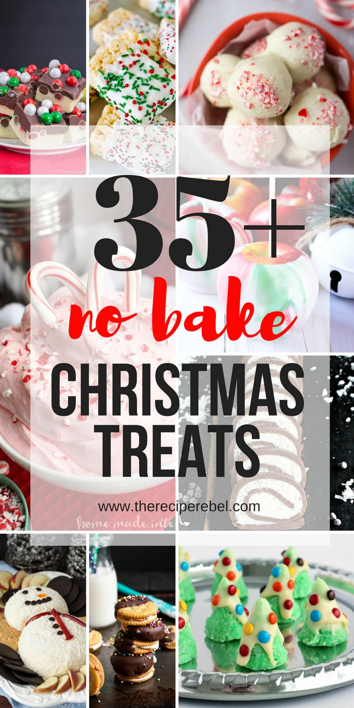 9+ Easy Christmas Treats - no bake Christmas cookies, bars & candies! - Easy Xmas Recipes For Gifts