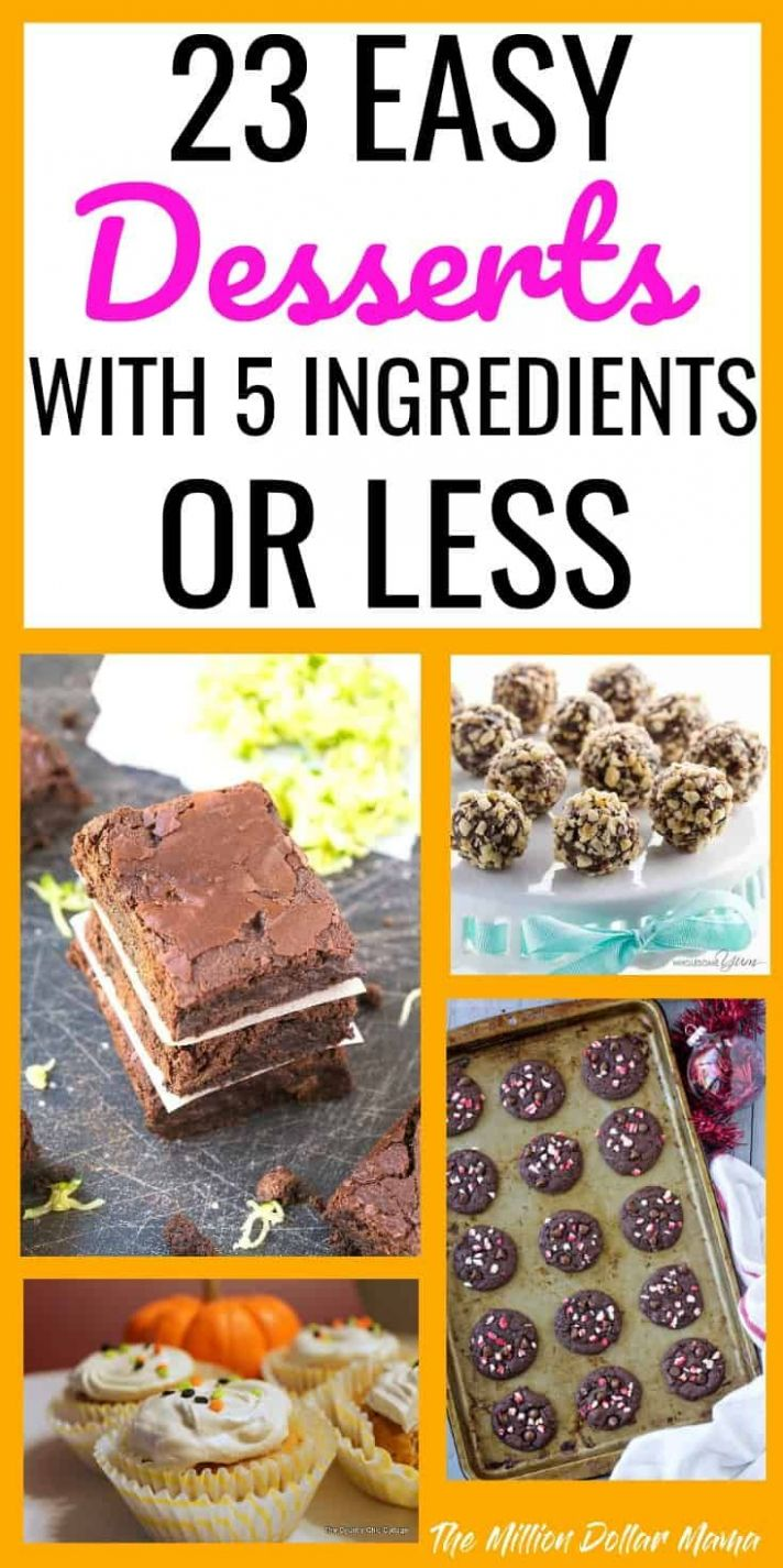 9 Easy Dessert Recipes All With 9 Ingredients or Less | Easy ...