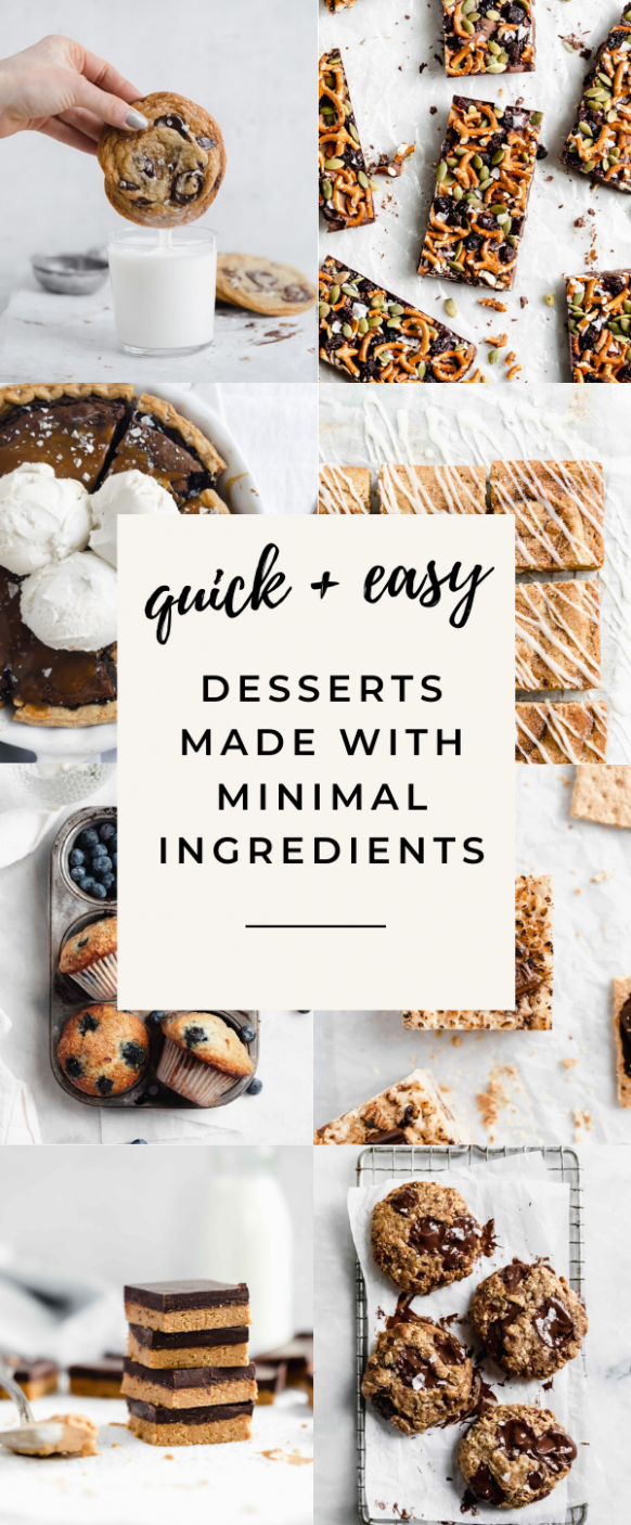 9 Easy Desserts with Few Ingredients - Broma Bakery - Simple Recipes Desserts Few Ingredients