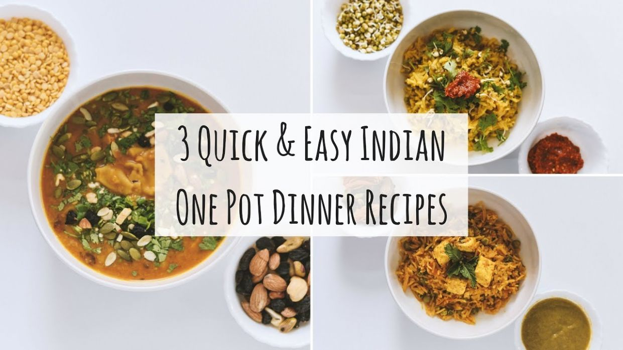 9 Easy One Pot Indian Dinner Recipes| Indian Veg Dinner Recipes|9 Indian  Dinner For Weight Loss - Dinner Recipes Indian Vegetarian