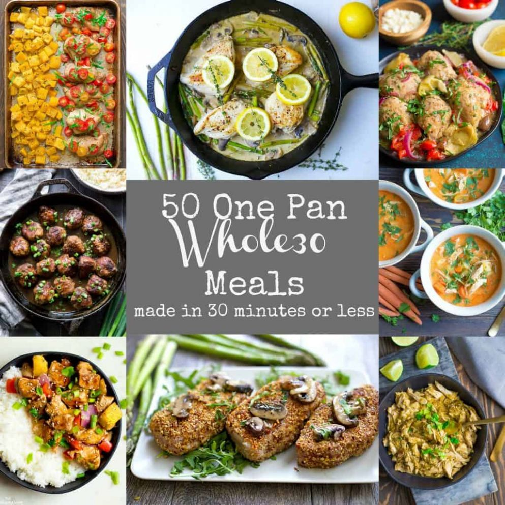 9 Easy Whole9 One Pan Meals - Wholesomelicious
