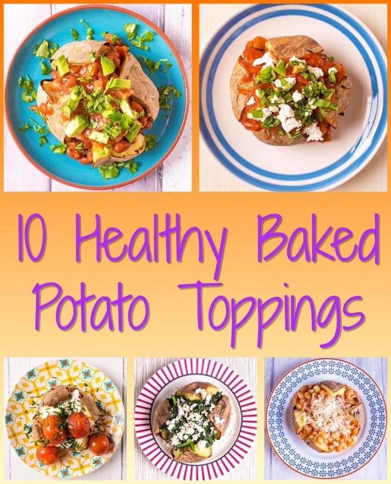 9 Healthy Baked Potato Toppings - Hungry Healthy Happy