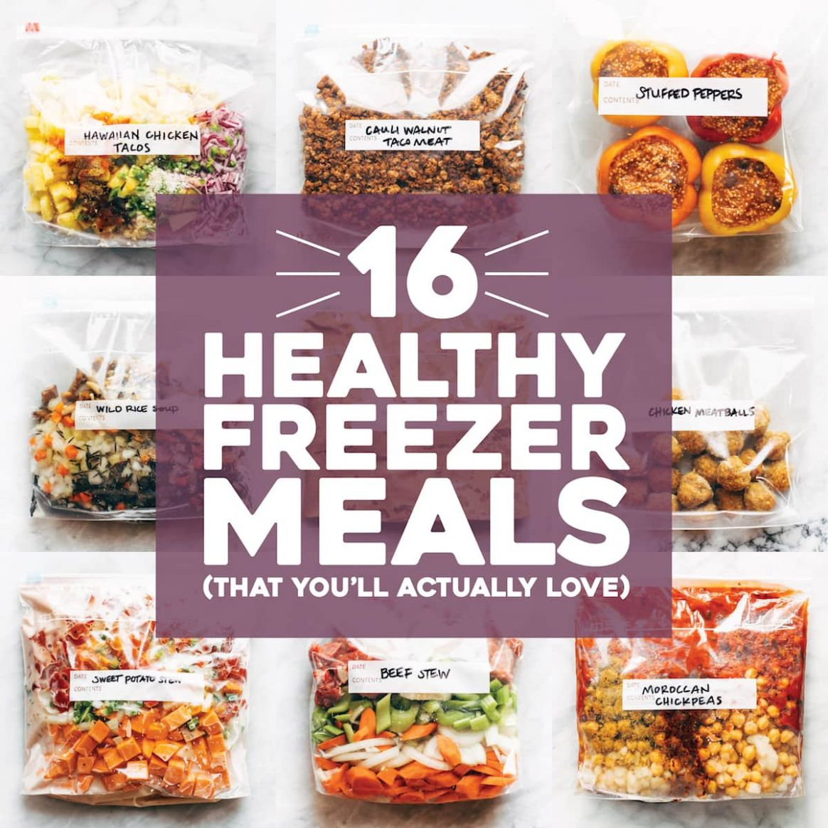 9 Healthy Freezer Meals (That You'll Actually Love) - Pinch of Yum