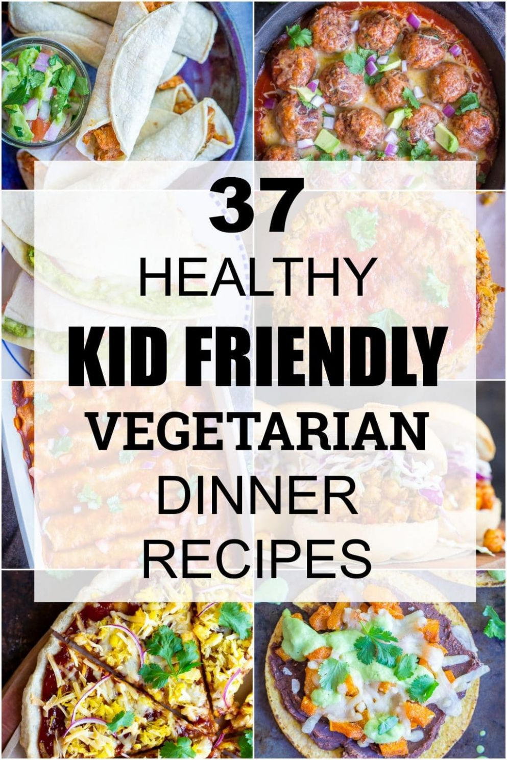 9 Healthy Kid Friendly Vegetarian Dinner Recipes - She Likes Food - Food Recipes For Kids