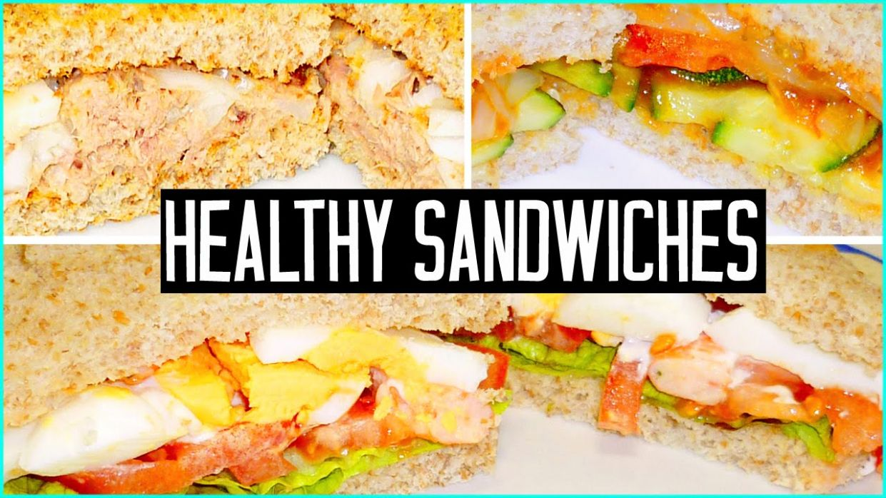 9 healthy SANDWICH IDEAS! Make EASY SCHOOL LUNCHES! - Sandwich Recipes Youtube