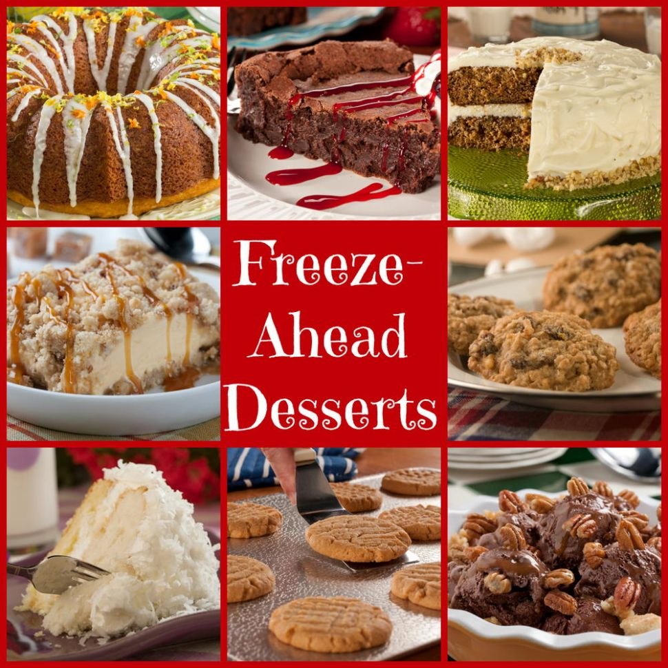 9 Make-Ahead Freezable Desserts for the Holidays | MrFood