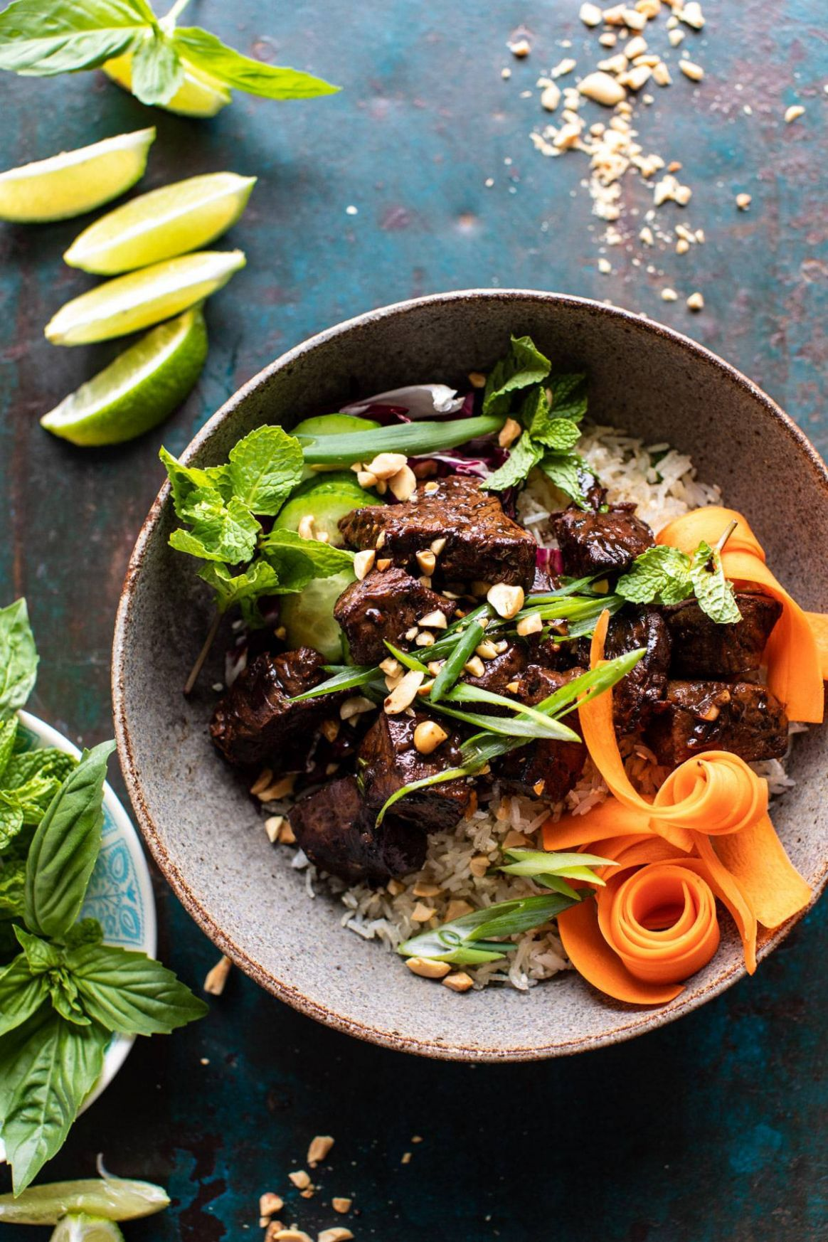 9 Minute Vietnamese Beef and Crispy Rice Bowl