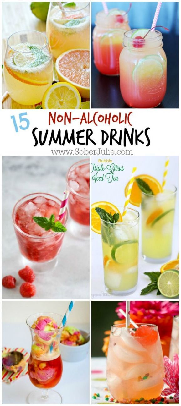 9 Non-Alcoholic Drink Recipes for Summer | Drinks alcohol recipes ...