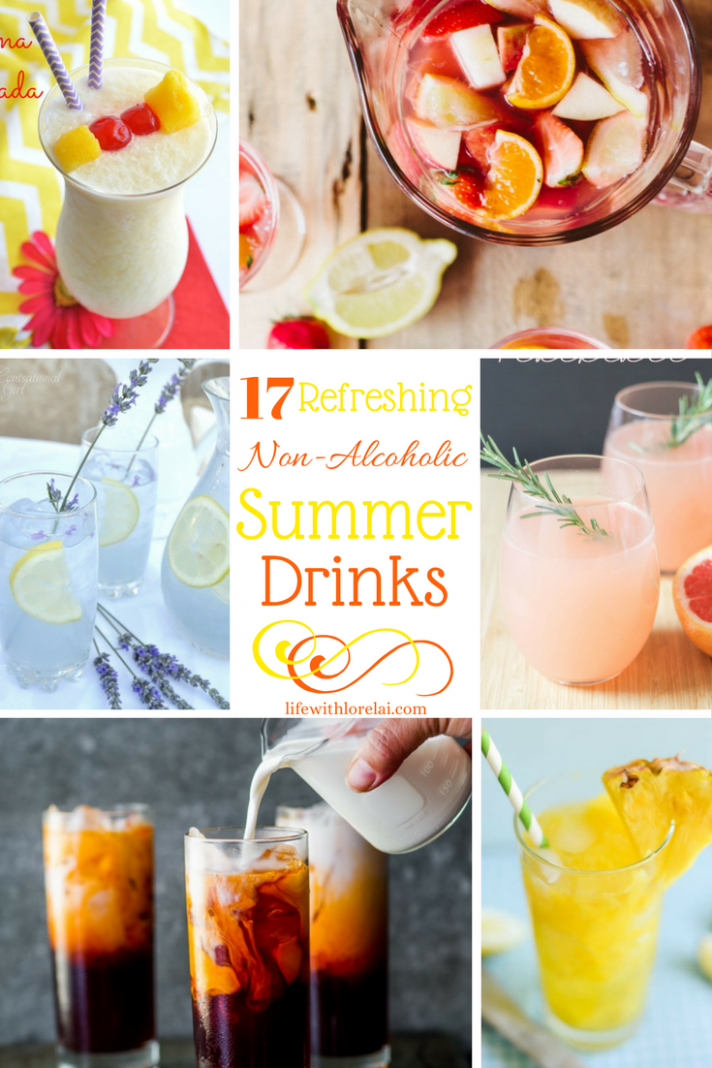 9 Non-Alcoholic Drink Recipes Refreshing Summer - Life With Lorelai - Summer Recipes Drinks Non Alcoholic