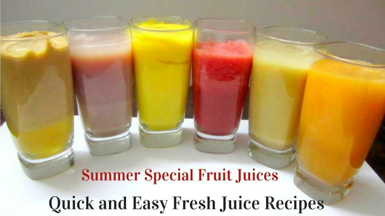 9 Quick and Easy Summer Drink Recipes | 9 Fresh Fruit Juices ...
