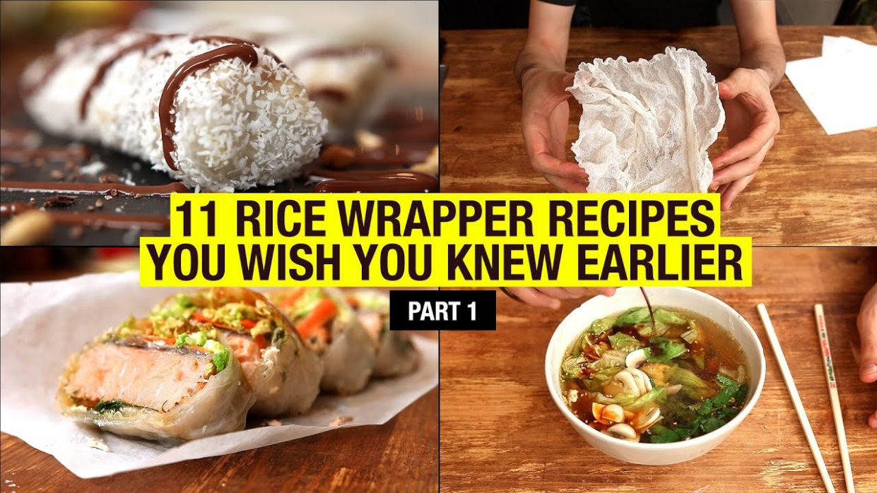 9 Recipes That Use Rice Paper Way Beyond Spring Rolls (part 9) - Recipes Rice Paper Wraps