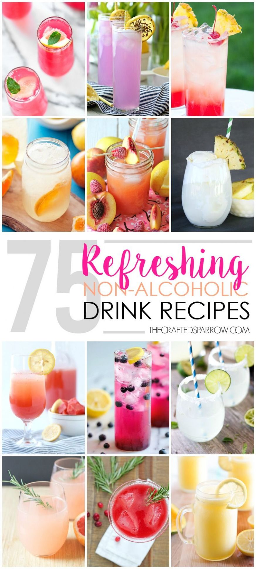 9 Refreshing Non-Alcoholic Drink Recipes | Drinks alcohol recipes ...