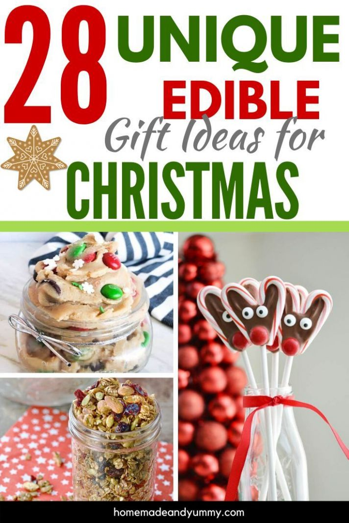 9 Unique Edible Gifts For Christmas | Christmas food gifts, Best ..