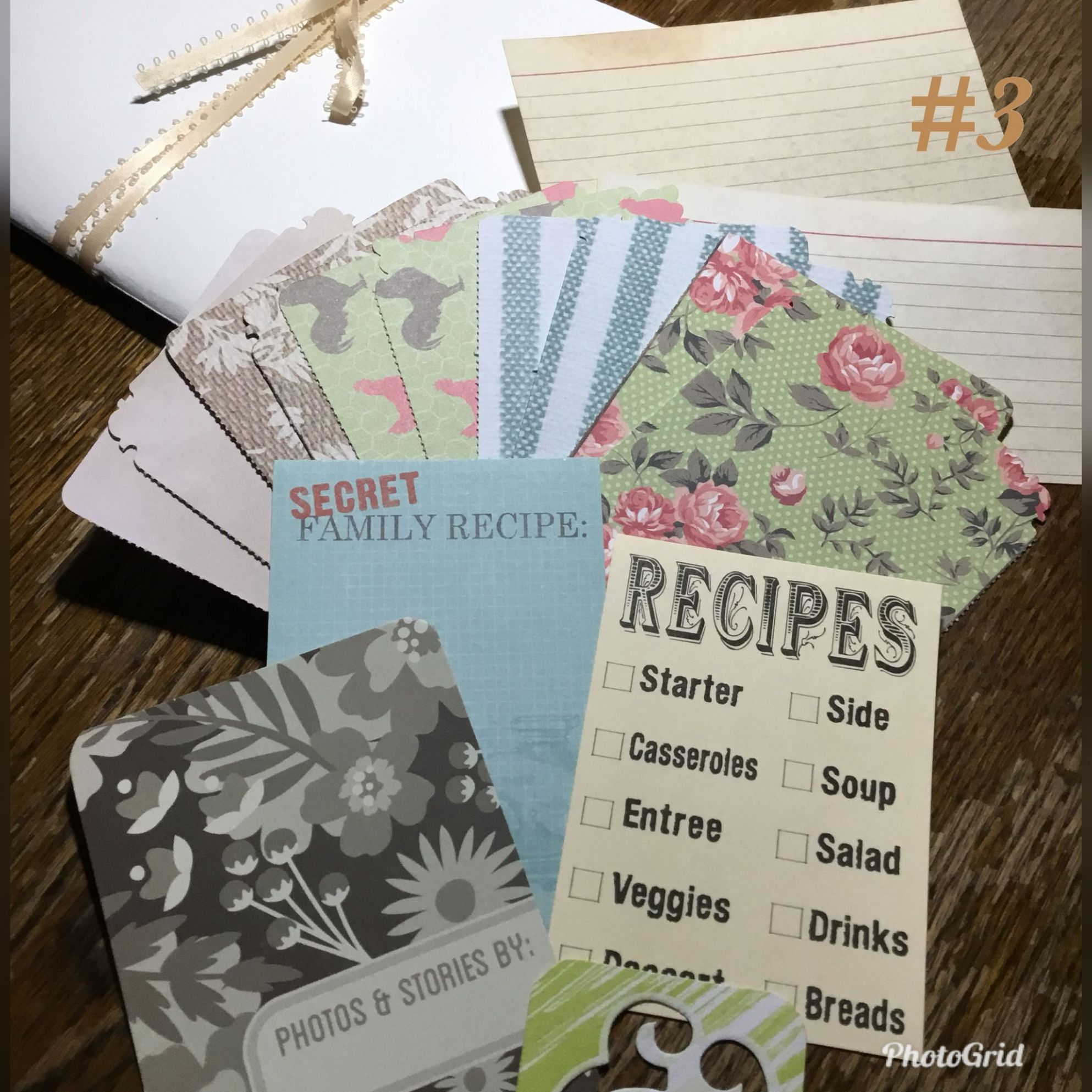 A cooking journal Junk journal The theme is farm recipes ..