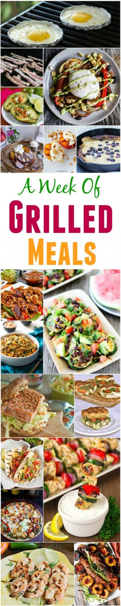 A Week of Grilled Meals
