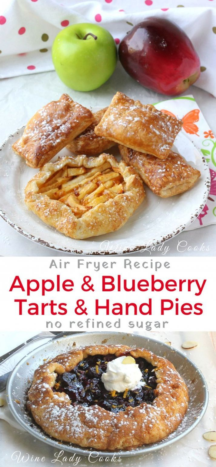 Air Fryer Fresh Fruit Galette Rustic Pie