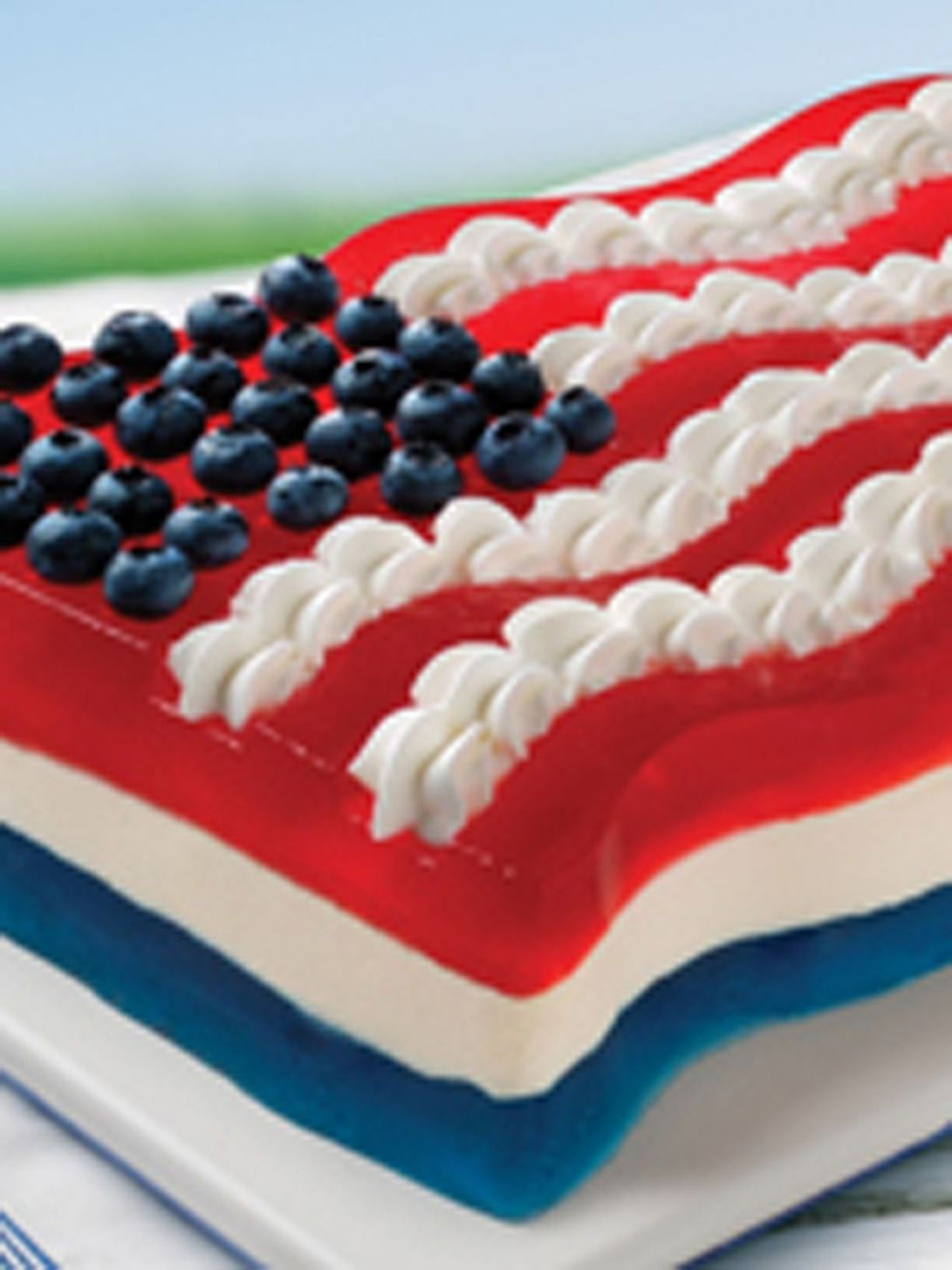 All-American Flag JELL-O Mold | Recipe | Jello mold recipes, Jello ..