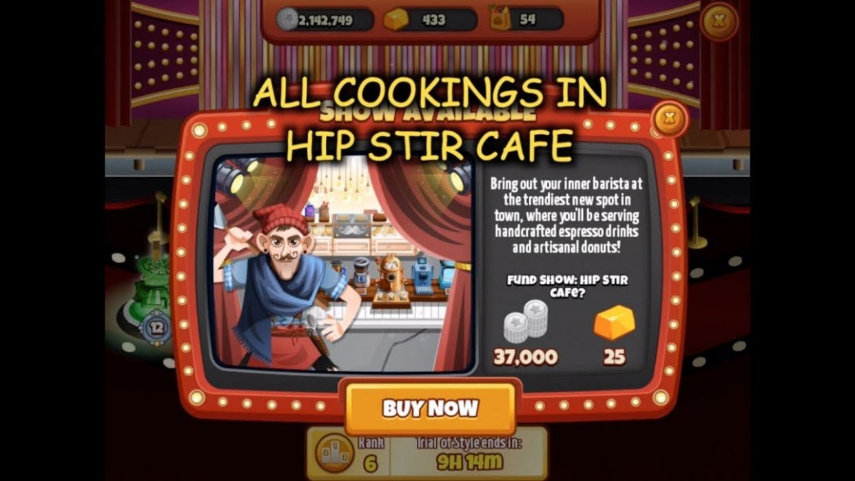 All Cookings in Hip Stir Cafe (Cooking Dash)