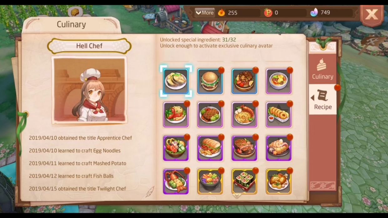 ALL CULINARY RECIPES ! - Tales of Wind | Laplace M - Cooking Recipes Laplace M