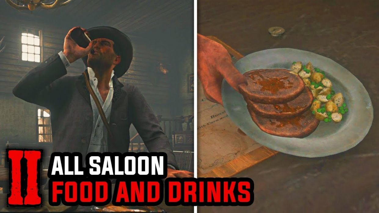 All Food and Drinks on Every Saloon (All Meals, Dishes & Beverages) - Red  Dead Redemption 11 - Food Recipes Rdr2