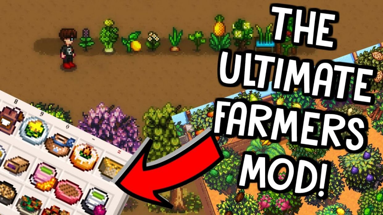 ALL NEW FRUIT, VEG, TREES & COOKING RECIPES! | Stardew Valley Mod Showcase - Food Recipes Stardew Valley