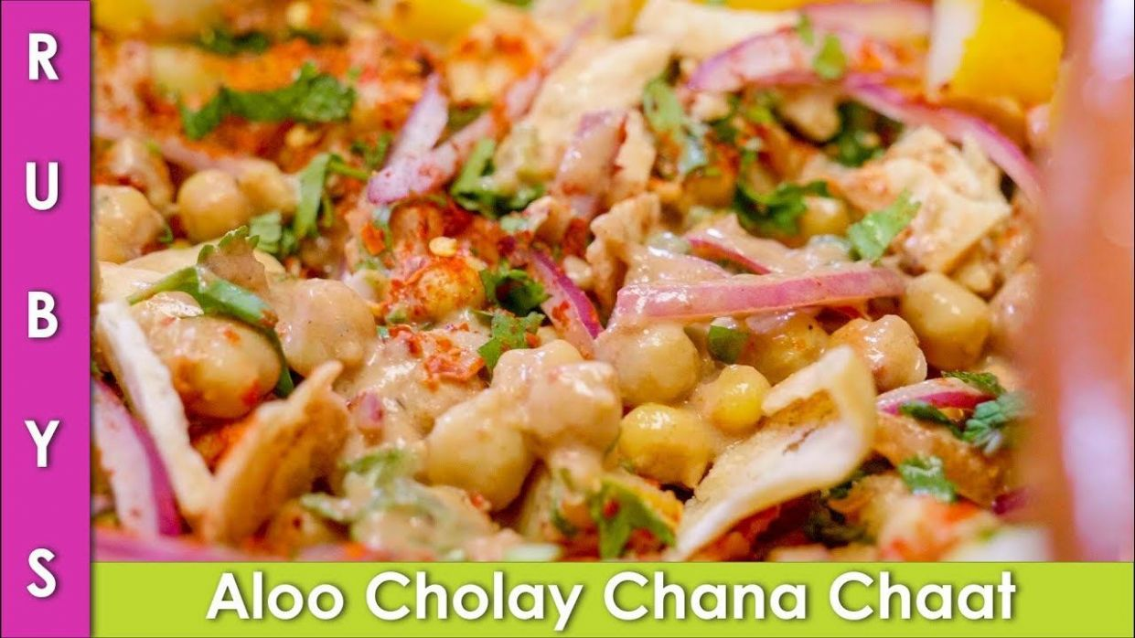 Aloo Cholay Chana Chaat Ramadan Iftari Ideas Recipe in Urdu Hindi ..