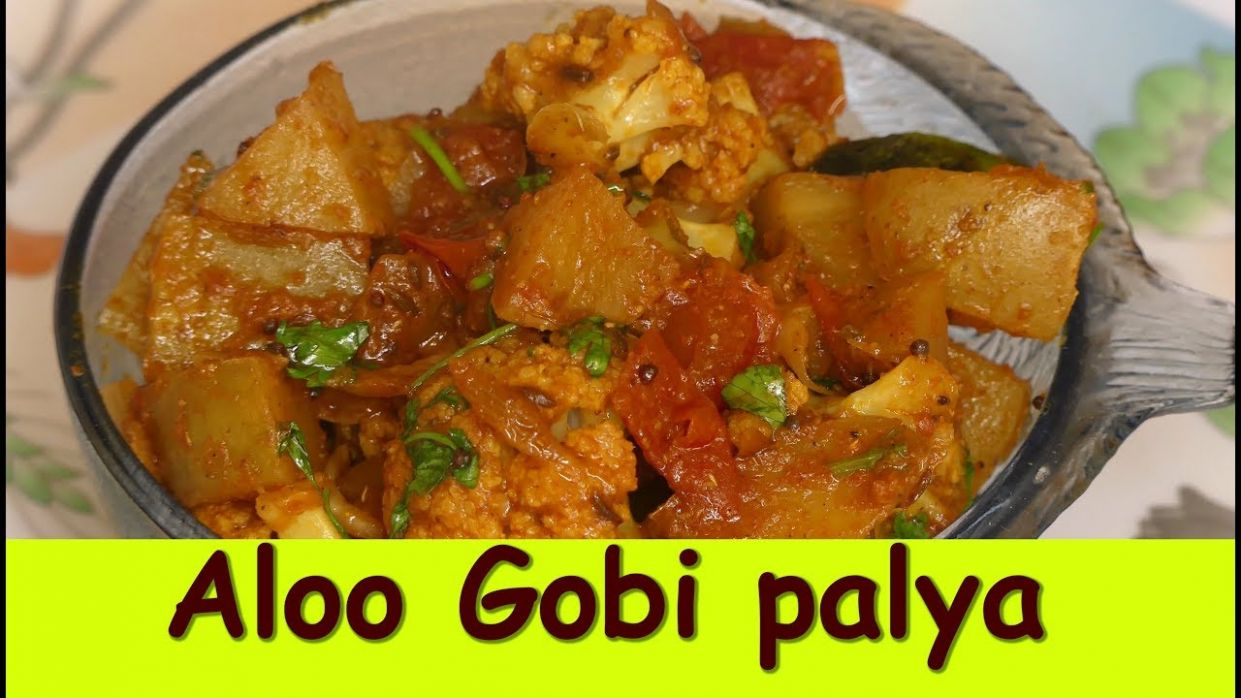 Aloo Gobi palya in kannada|Potato Cauliflower Curry| Aloo Gobi palya recipe  in kannada - Potato Recipes In Kannada