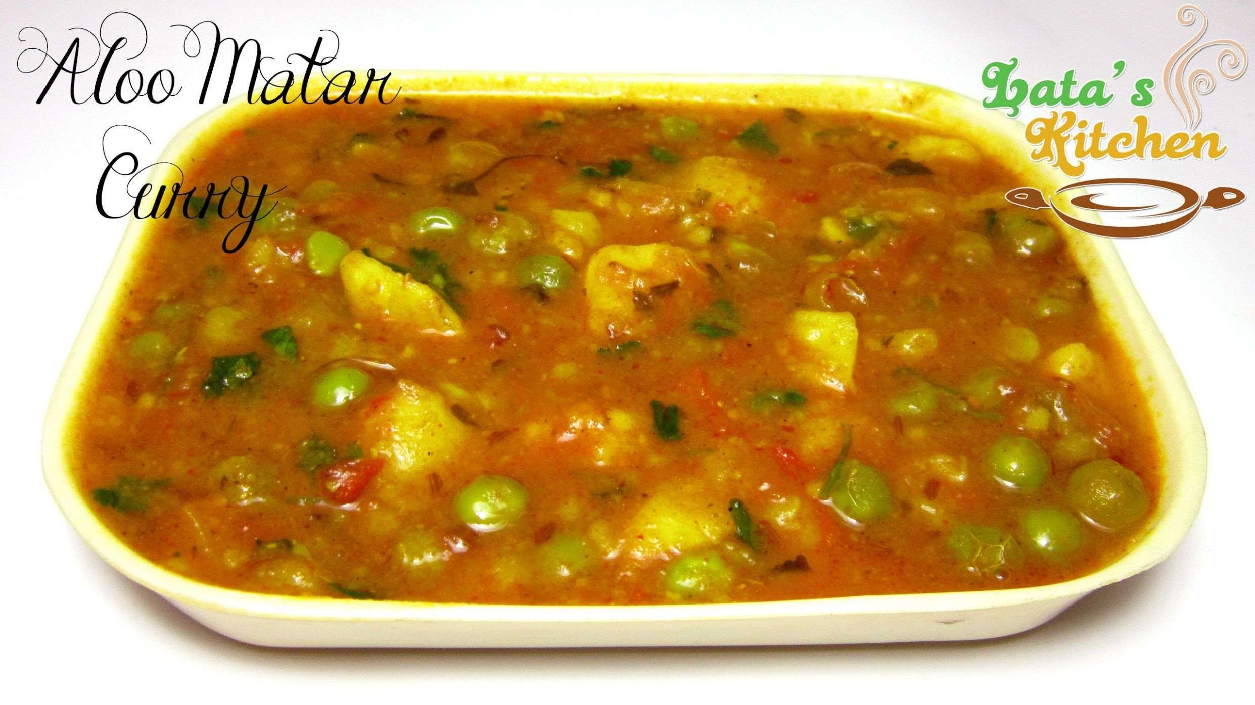 Aloo Matar Curry — Indian Vegetarian Recipe Video in Hindi with ..