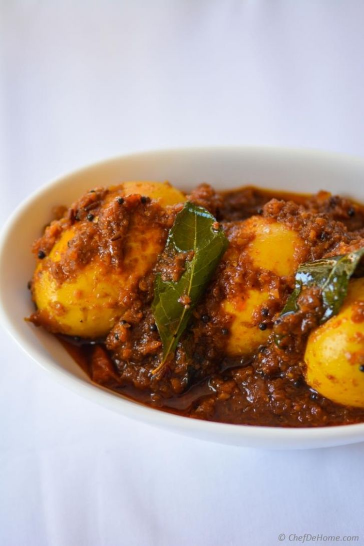 Andhra-Style Spicy Egg Curry - Recipe Egg Kari