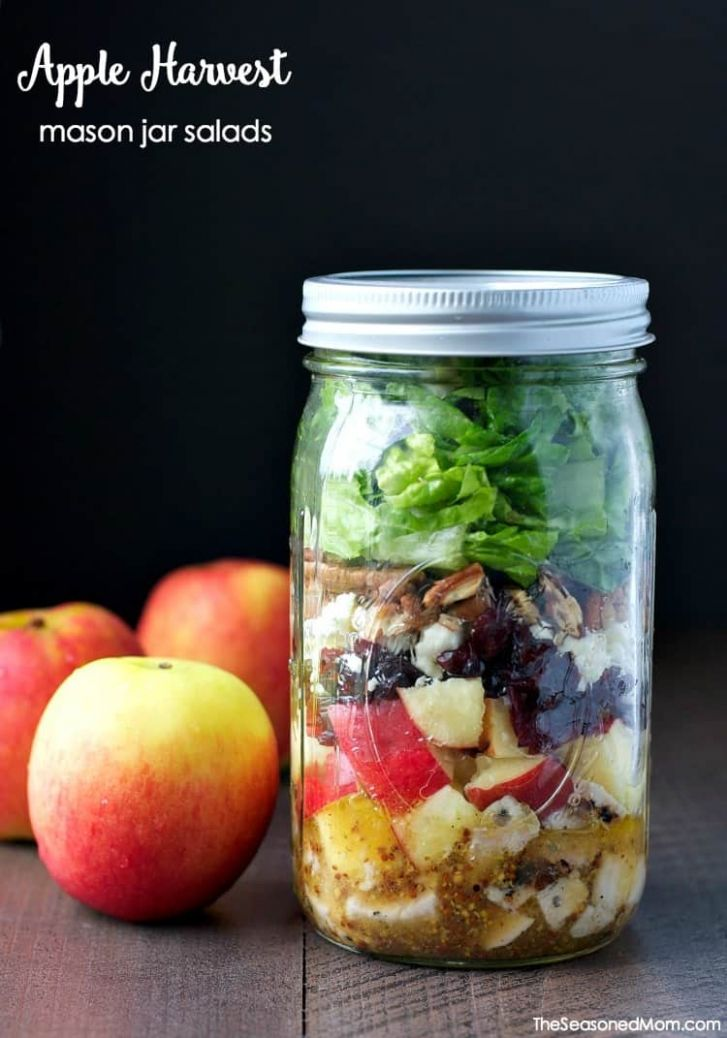 Apple Harvest Mason Jar Salads - Recipes Salad In A Jar