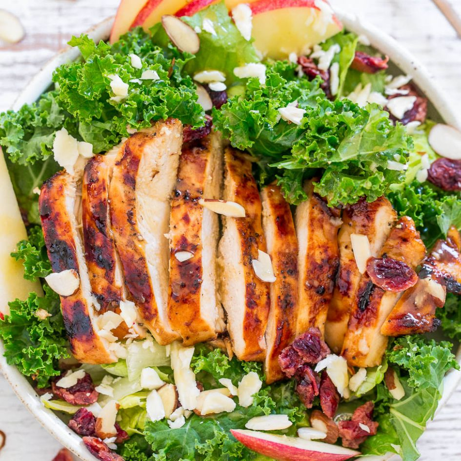 Apple, White Cheddar, and Grilled Chicken Salad - Recipes Salad Chicken Breast