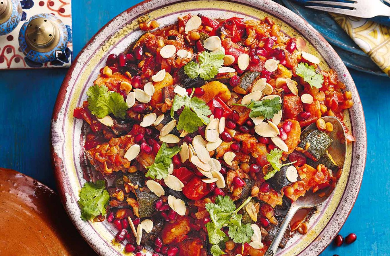 Apricot and honey vegetable tagine - Recipes Vegetarian Tagine