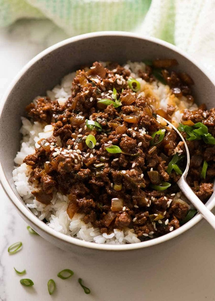 Asian Beef Bowls - Diced Beef Recipes Quick