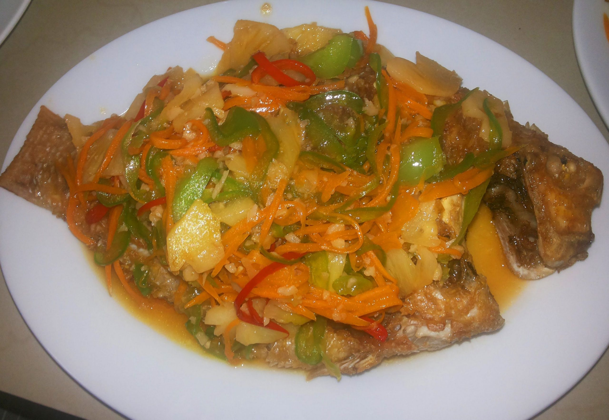 Asian Food - Cambodian Family Food - Sweet And Sour Fried Fish ...