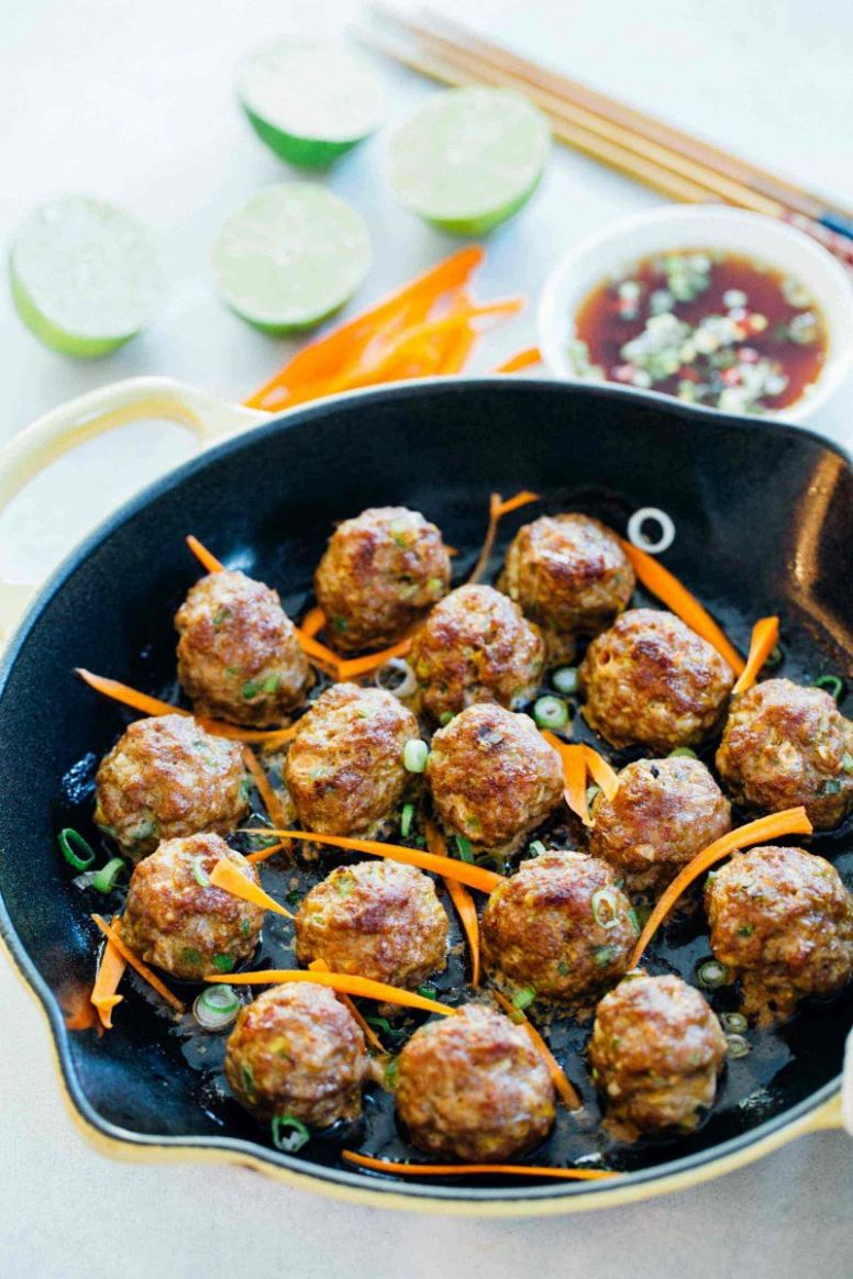 Asian Pork Meatballs - Easy Asian Meatballs for Rice or Noodle Bowls - Recipes Pork Meatballs
