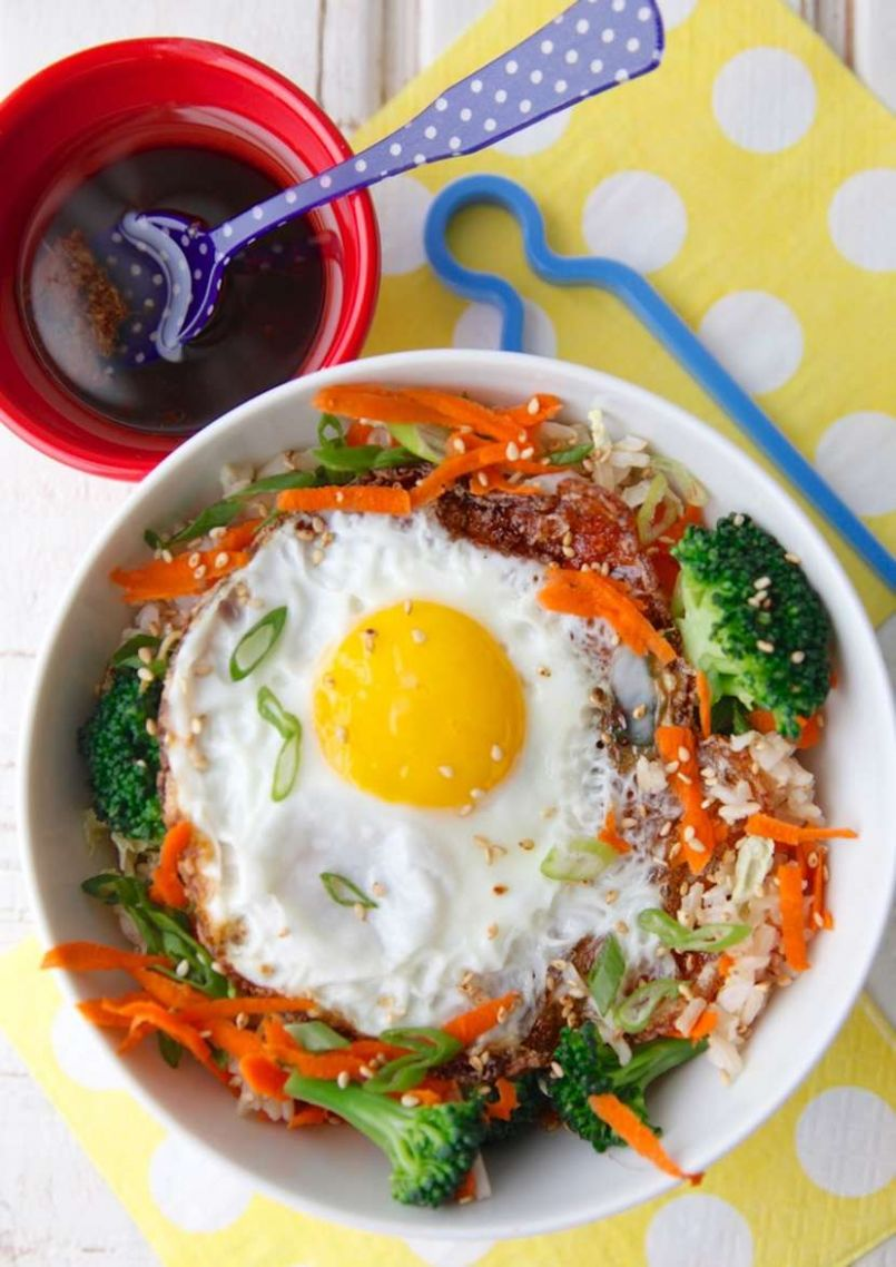 Asian Rice Bowl with Egg - Recipes Rice Bowls