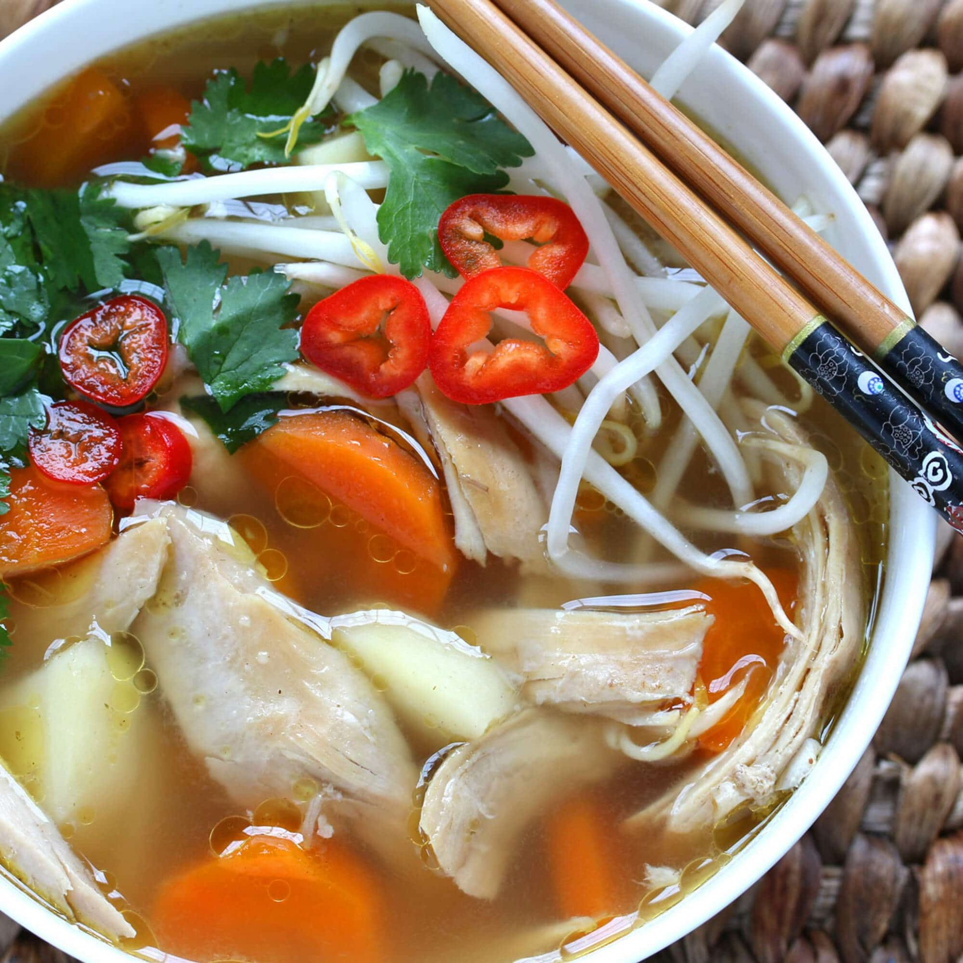 Asian-Spiced Chicken and Vegetable Soup - Soup Recipes Asian