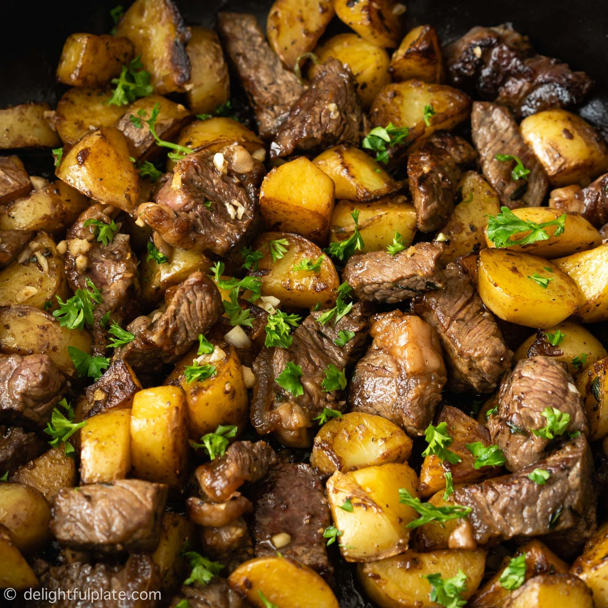 Asian Steak Bites and Potatoes - Recipes With Beef Cubes And Potatoes