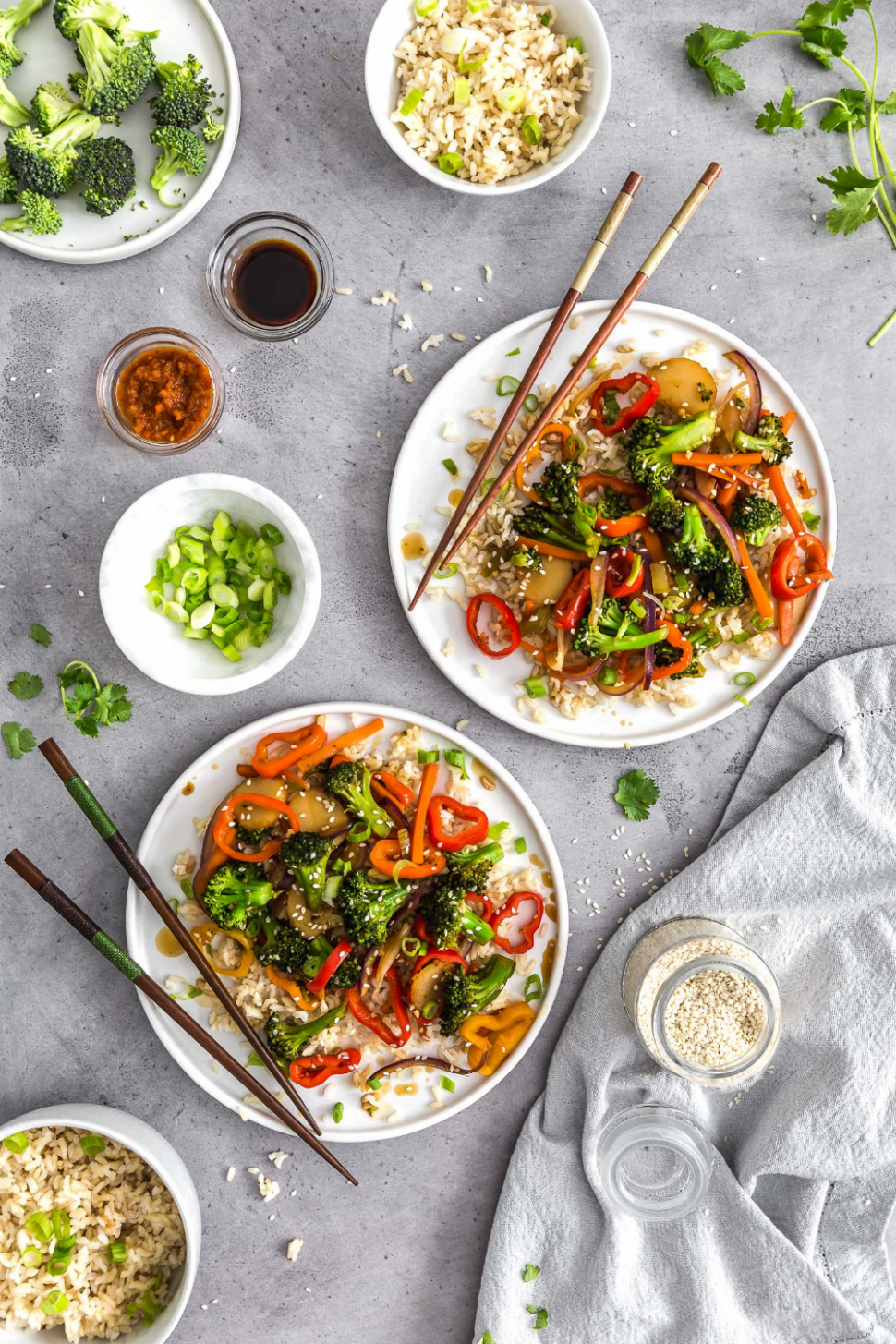 Asian Veggie Stir Fry - Vegetarian Recipes Asian
